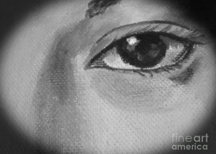 Eyes Greeting Card featuring the photograph Sad Eye by Tina M Wenger