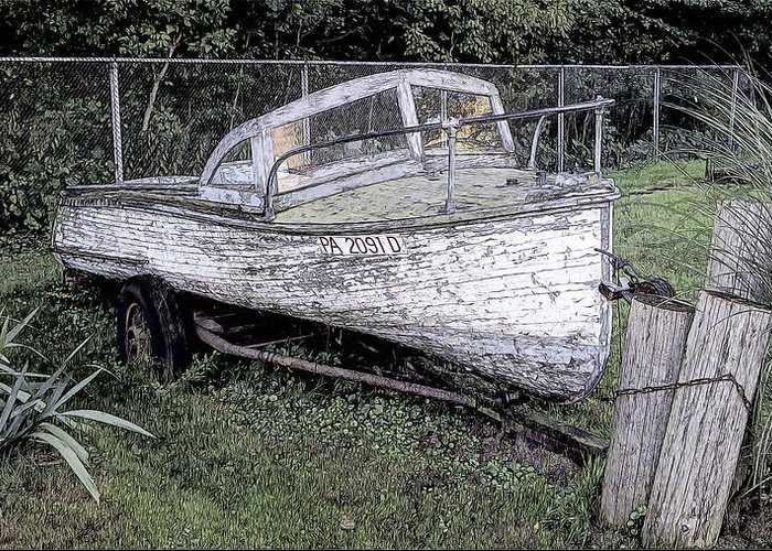 Travel Greeting Card featuring the photograph Sad Old Boat by Bruce Wilbur