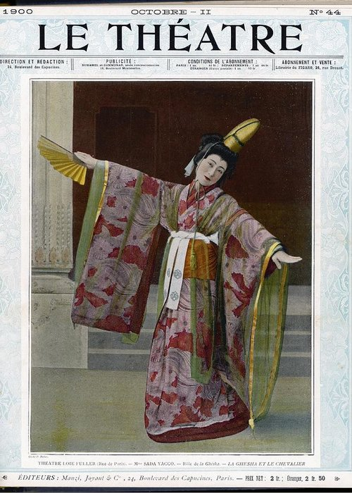 Sada Greeting Card featuring the photograph Sada Yacco Japanese Actress Who Toured by Mary Evans Picture Library