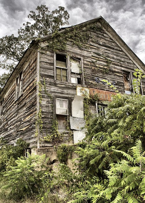 Rustic Greeting Card featuring the photograph Saddle Store 2 Of 3 by Jason Politte