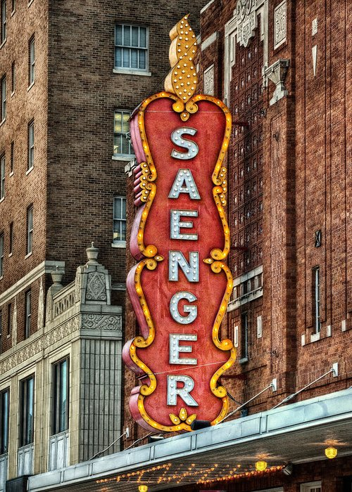 Saenger Greeting Card featuring the photograph Saenger by Brenda Bryant