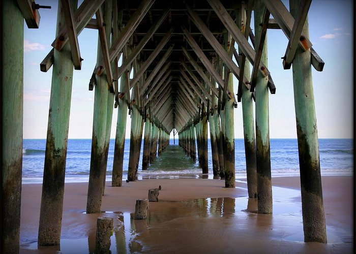 Surf City Pier Greeting Card featuring the photograph Safe Haven by Karen Wiles