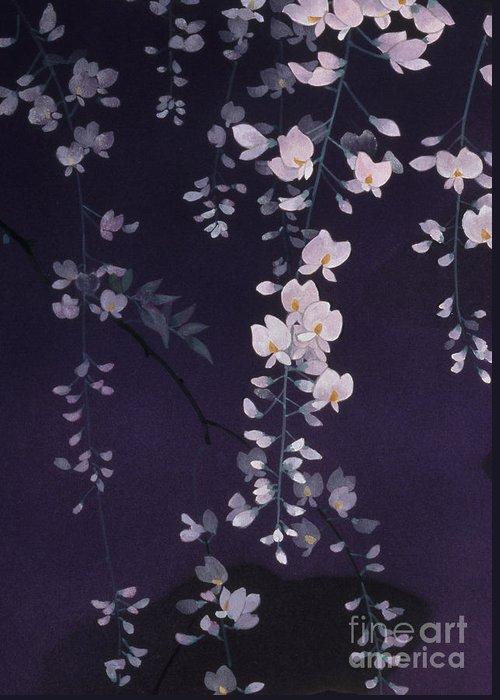 Haruyo Morita Greeting Card featuring the digital art Sagi No Mai Crop II by Haruyo Morita