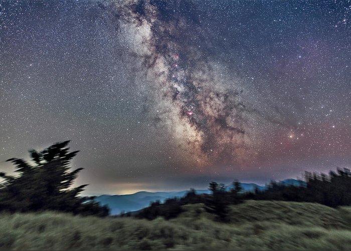 Alan Dyer Greeting Card featuring the photograph Sagittarius Over Sagebrush by Alan Dyer