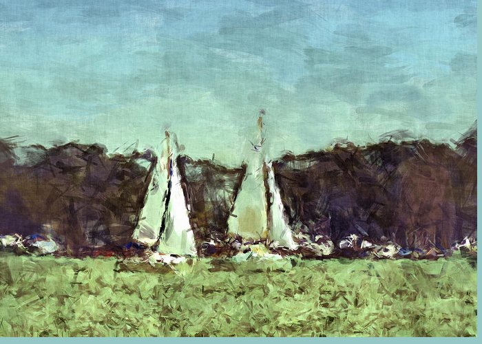 Sport Greeting Card featuring the photograph Sail Away by Susan Leggett