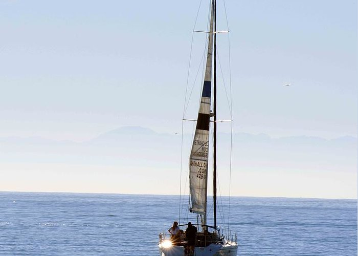 Sailboat Greeting Card featuring the photograph Sail Into The Future by Artist and Photographer Laura Wrede