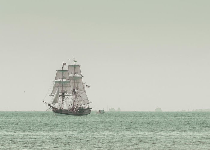 Art Greeting Card featuring the photograph Sail Ship 1 by Lucid Mood