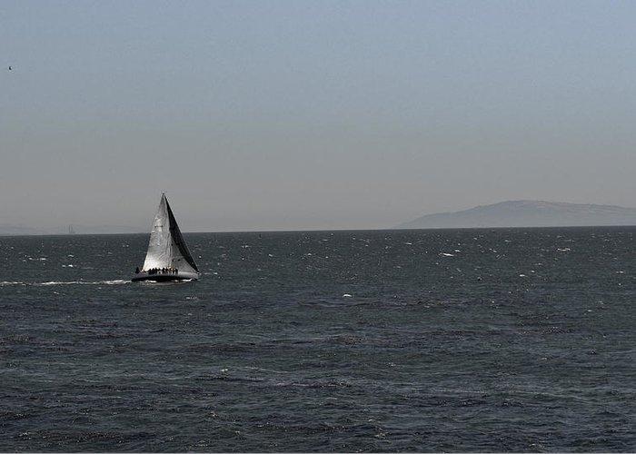 Sailboat Greeting Card featuring the photograph Sailboat by Nick Garner
