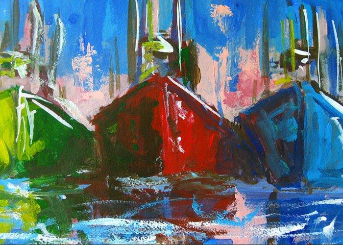 Art Greeting Card featuring the painting Sailboat by Patricia Awapara