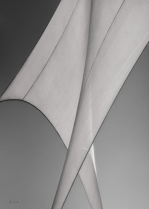 Abstract Greeting Card featuring the photograph Sailcloth Abstract Number 3 by Bob Orsillo