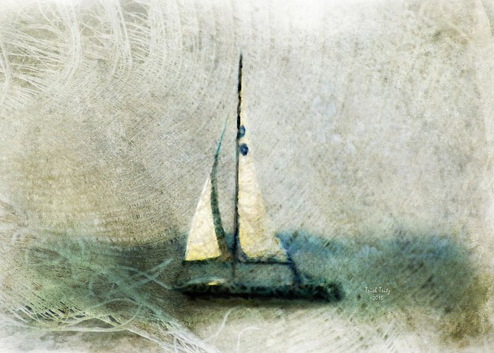 Sally Starr Greeting Card featuring the mixed media Sailin' With Sally Starr by Trish Tritz