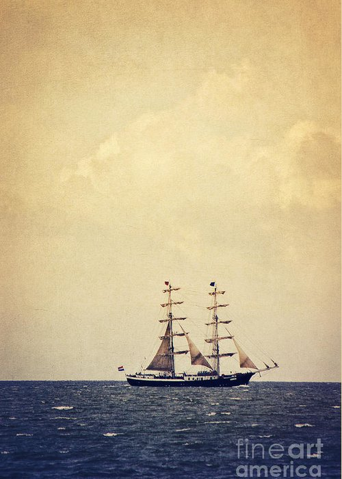 Sailing Greeting Card featuring the photograph Sailing II by Angela Doelling AD DESIGN Photo and PhotoArt
