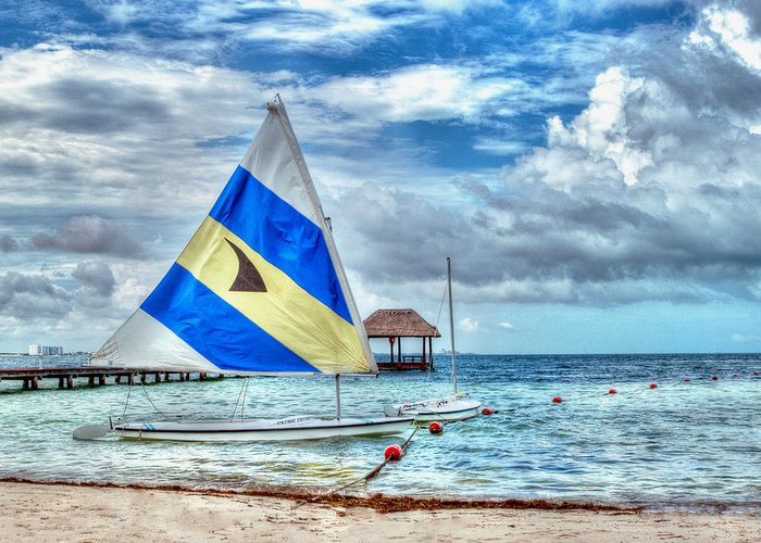 Cancun Greeting Card featuring the photograph Sailing In Cancun by William Havle