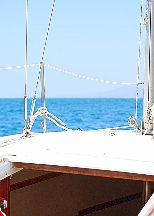 Sailboat Greeting Card featuring the photograph Sailing On A Fine Sunny Day by Artist and Photographer Laura Wrede