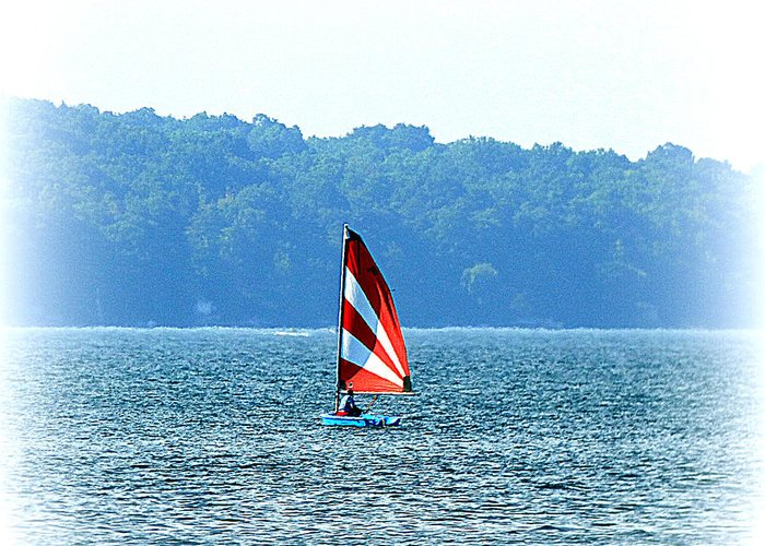 Waterscape Greeting Card featuring the photograph Sailing by Rennae Christman