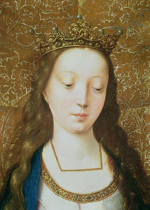 Christian Greeting Card featuring the painting Saint Catherine by Goossen van der Weyden