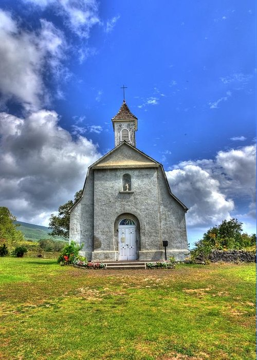 Church Greeting Card featuring the photograph Saint Joeseph's Church Maui Hawaii by Puget Exposure