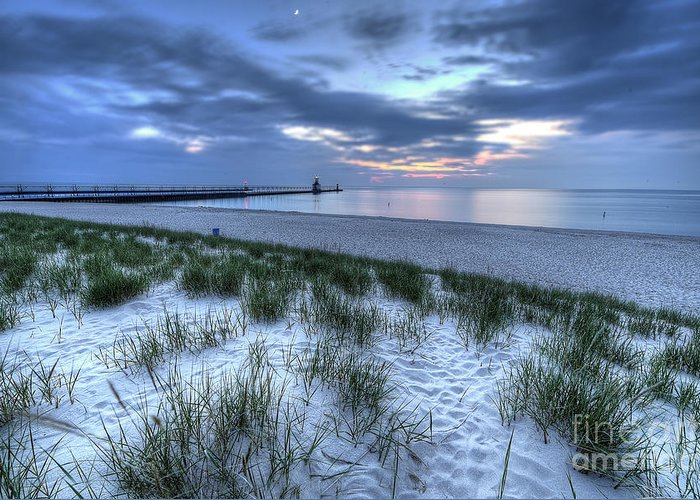 Saint Greeting Card featuring the photograph Saint Joseph Michigan Lighthouse by Twenty Two North Photography