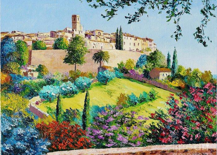 Provence Village Digital Art Greeting Cards