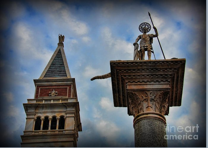 St Theodore. Saint Theodore Greeting Card featuring the photograph Saint Theodore Standing Guard by Lee Dos Santos
