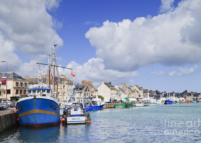 Calm Greeting Card featuring the photograph Saint Vaast La Hougue Normandy France by Colin and Linda McKie