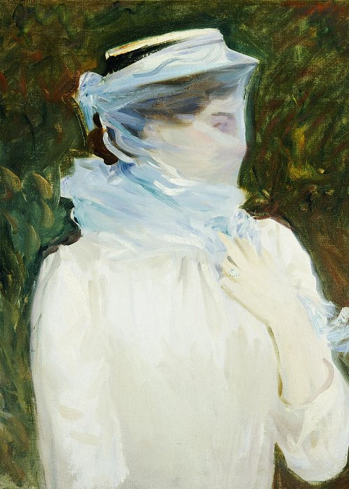 Portrait Greeting Card featuring the painting Sally Fairchild by John Singer Sargent