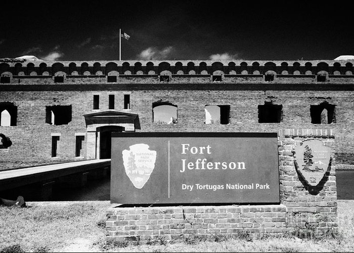 Fort Greeting Card featuring the photograph Sally Port Entrance To Fort Jefferson Dry Tortugas National Park Florida Keys Usa by Joe Fox