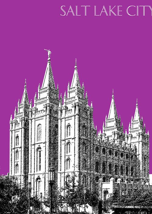 Salt Lake City Temple Digital Art Greeting Cards