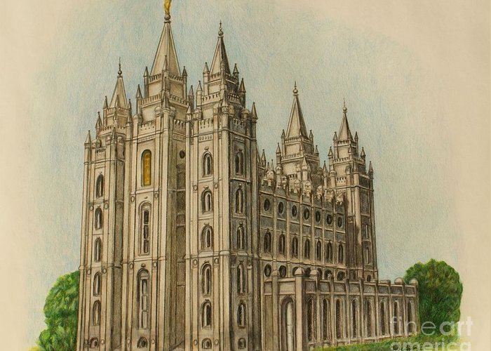 Slc Drawings Greeting Cards