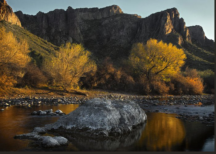 Salt River Greeting Card featuring the photograph Salt River Fall Foliage by Dave Dilli