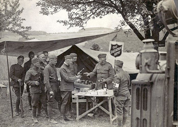 1918 Greeting Card featuring the photograph Salvation Army At Front by Granger