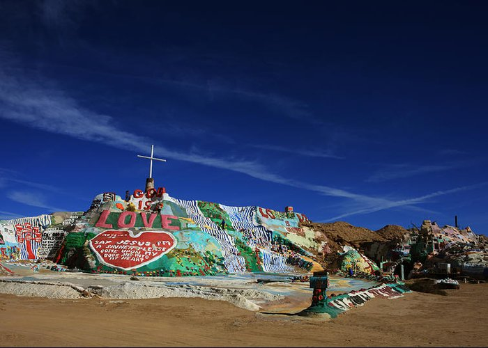 Salvation Mountain Greeting Card featuring the photograph Salvation Mountain by Laurie Search
