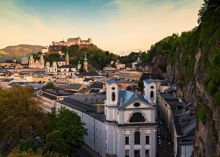 Salzburg Greeting Card featuring the photograph Salzburg 06 by Tom Uhlenberg