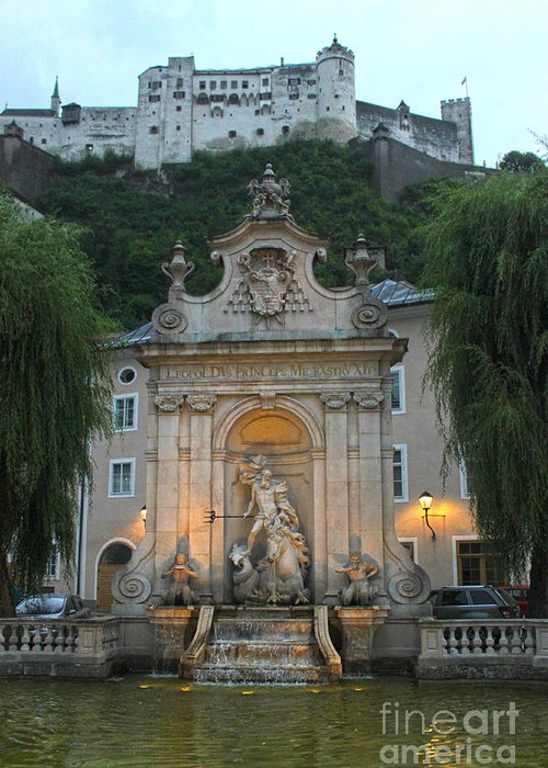 Salzburg Austria Greeting Card featuring the photograph Salzburg Austria by Gregory Dyer