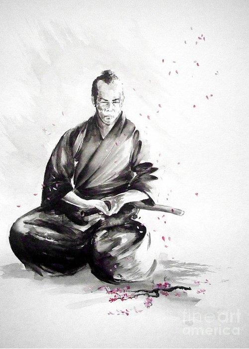 Samurai warrior japanese martial arts bushido greeting card for bushido greeting card featuring the painting samurai warrior japanese martial arts bushido by mariusz m4hsunfo