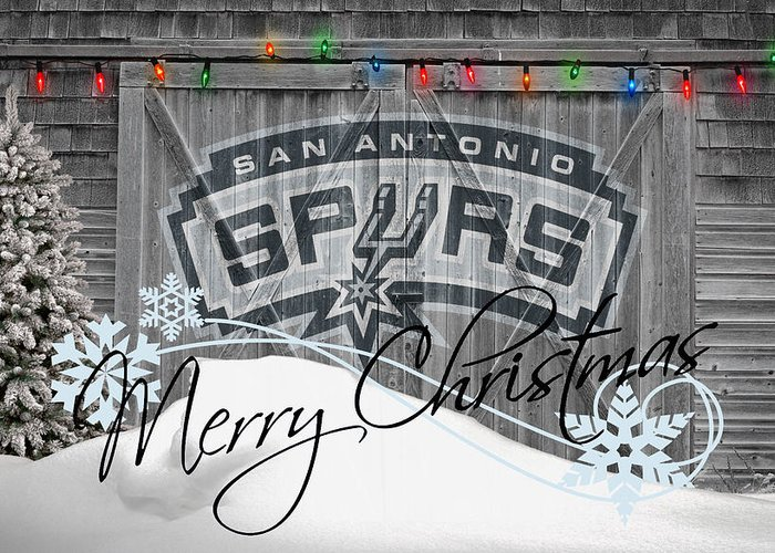Spurs Greeting Card featuring the photograph San Antonio Spurs by Joe Hamilton