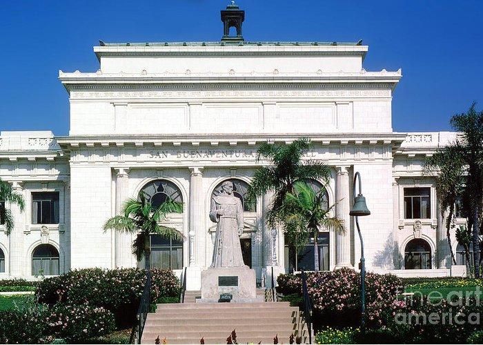 San Buenaventura Greeting Card featuring the photograph San Buenaventura City Hall Building California by Wernher Krutein