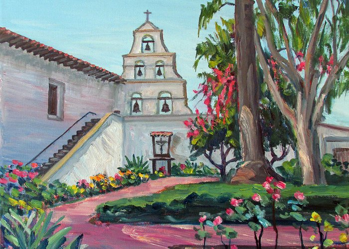 United States Mission Church Paintings Greeting Cards