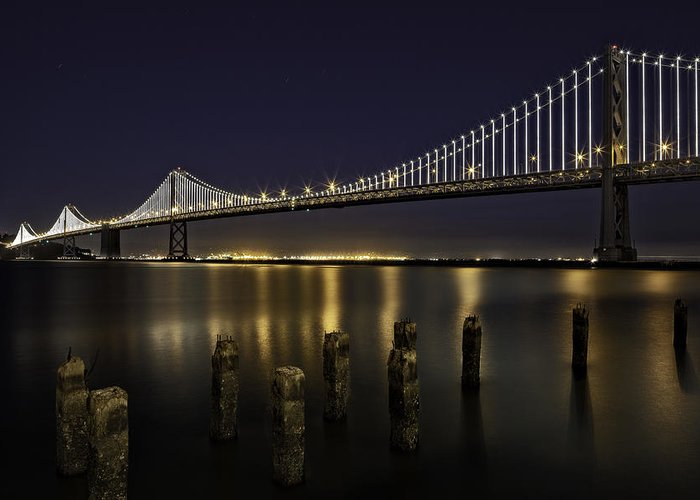 Www.kevinlcole.com Greeting Card featuring the photograph San Francisco Bay Bridge by Kevin L Cole