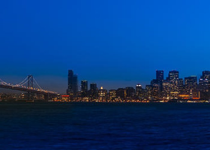 San Greeting Card featuring the photograph San Francisco Bay by Steve Gadomski