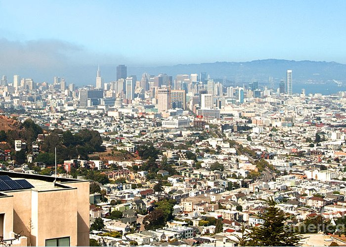 Greeting Card featuring the photograph San Francisco City Vista by Artist and Photographer Laura Wrede