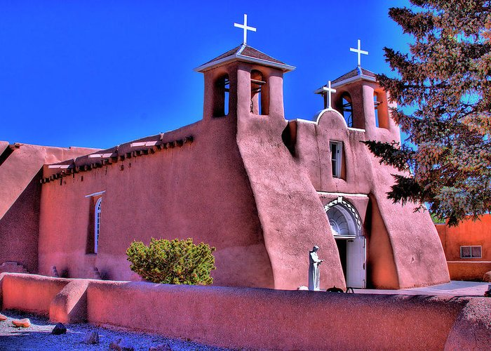 San Francisco Greeting Card featuring the photograph San Francisco De Asis Mission Church by David Patterson