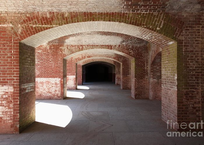 San Francisco Greeting Card featuring the photograph San Francisco Fort Point 5d21546 by Wingsdomain Art and Photography