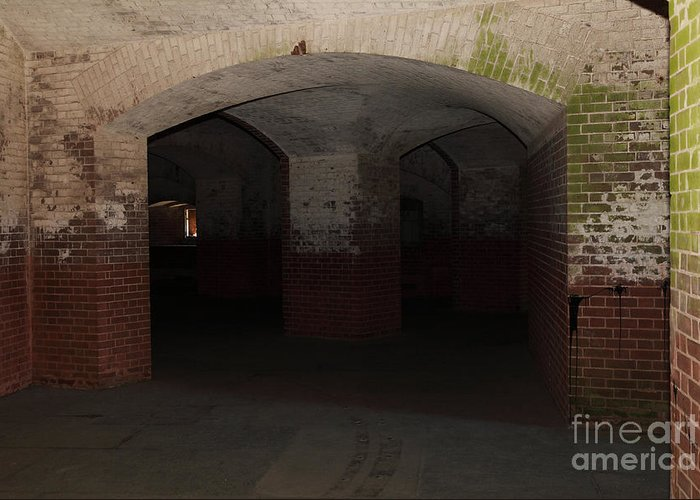 San Francisco Greeting Card featuring the photograph San Francisco Fort Point 5d21548 by Wingsdomain Art and Photography