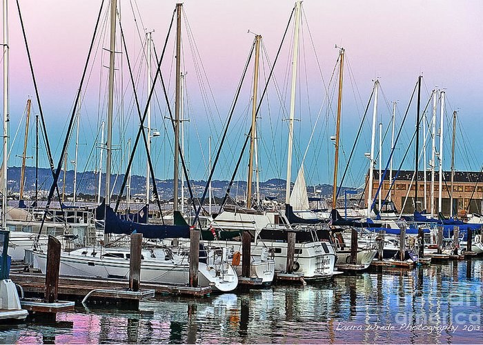 San Francisco Harbor At Pier 39 Greeting Card featuring the photograph San Francisco Harbor At Pier 39 by Artist and Photographer Laura Wrede