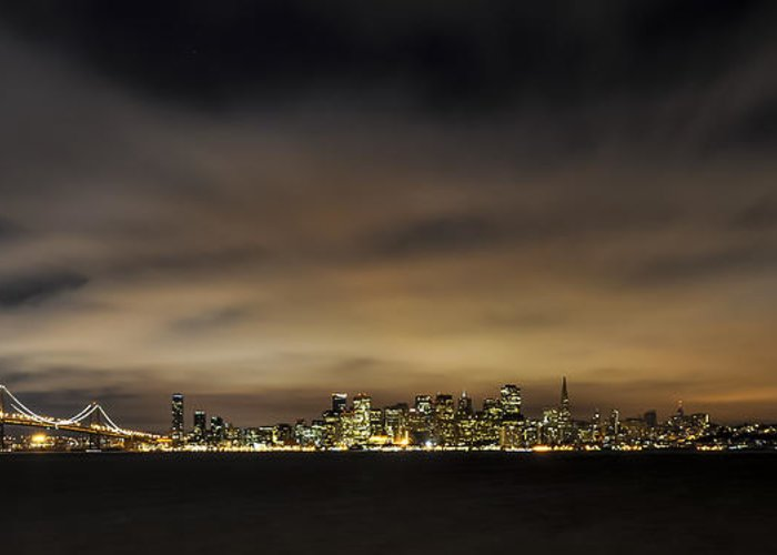 America Greeting Card featuring the photograph San Francisco Nightscape by Gej Jones