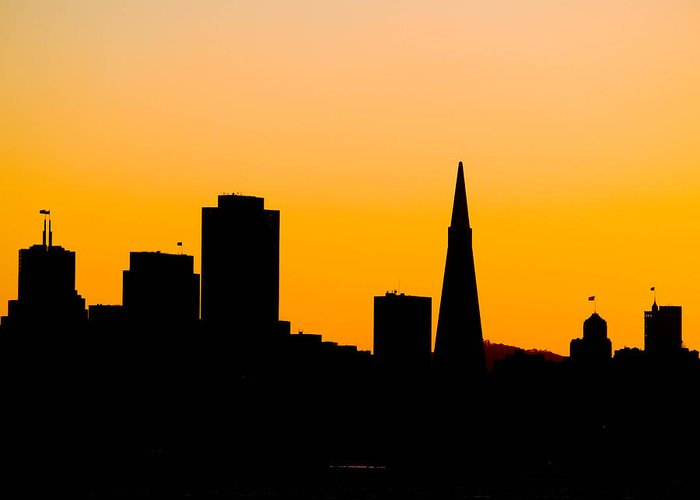 San Francisco Greeting Card featuring the photograph San Francisco Silhouette by Bill Gallagher