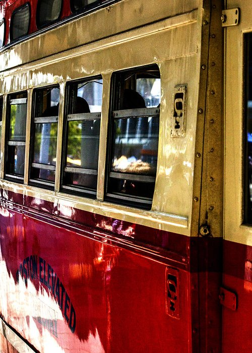 Street Car Greeting Card featuring the photograph San Francisco Street Car by SFPhotoStore