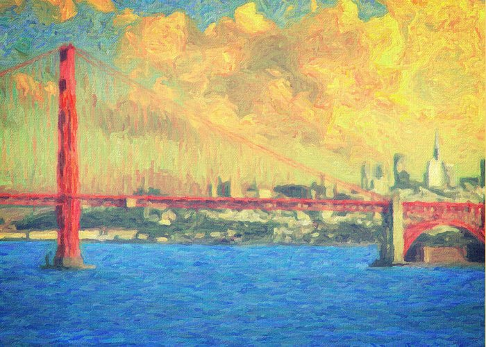 San Francisco Greeting Card featuring the painting San Francisco by Taylan Apukovska