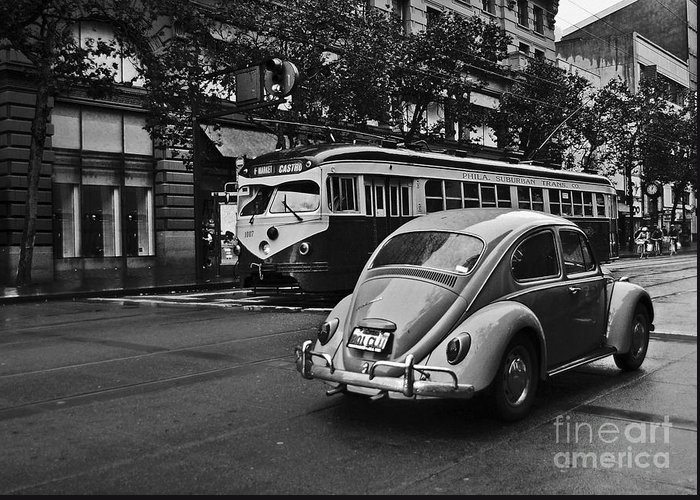 Eua Greeting Card featuring the photograph San Francisco Vintage Scene by Carlos Alkmin